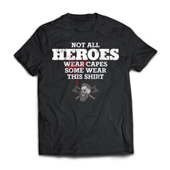 Viking, Norse, Gym t-shirt & apparel, Not all heros wear capes, FrontApparel[Heathen By Nature authentic Viking products]Next Level Premium Short Sleeve T-ShirtBlackX-Small
