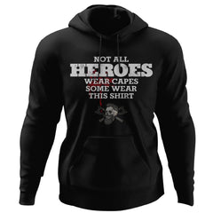 Viking, Norse, Gym t-shirt & apparel, Not all heros wear capes, FrontApparel[Heathen By Nature authentic Viking products]Unisex Pullover HoodieBlackS