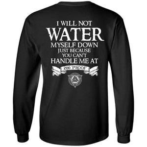 Viking, Norse, Gym t-shirt & apparel, Not water myself down, BackApparel[Heathen By Nature authentic Viking products]Long-Sleeve Ultra Cotton T-ShirtBlackS