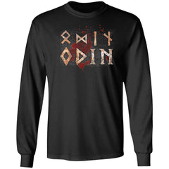 Viking, Norse, Gym t-shirt & apparel, Odin, FrontApparel[Heathen By Nature authentic Viking products]Long-Sleeve Ultra Cotton T-ShirtBlackS
