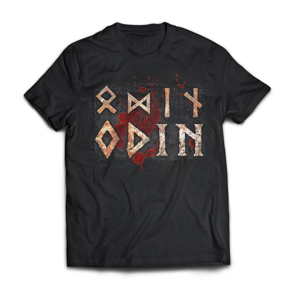 Viking, Norse, Gym t-shirt & apparel, Odin, FrontApparel[Heathen By Nature authentic Viking products]Next Level Premium Short Sleeve T-ShirtBlackX-Small