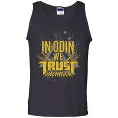 Viking, Norse, Gym t-shirt & apparel, Odin, Trust, frontApparel[Heathen By Nature authentic Viking products]Cotton Tank TopBlackS