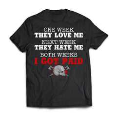Viking, Norse, Gym t-shirt & apparel, One week they love me, frontApparel[Heathen By Nature authentic Viking products]Next Level Premium Short Sleeve T-ShirtBlackX-Small