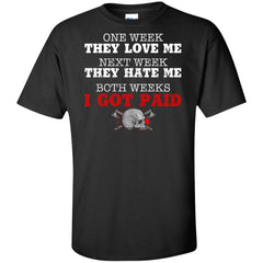 Viking, Norse, Gym t-shirt & apparel, One week they love me, frontApparel[Heathen By Nature authentic Viking products]Tall Ultra Cotton T-ShirtBlackXLT