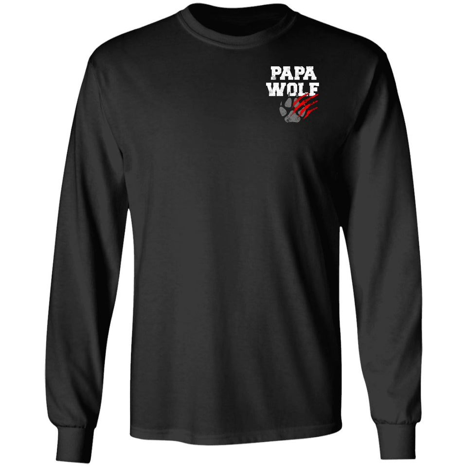 Viking, Norse, Gym t-shirt & apparel, Papa Wolf, Circus, Double sidedApparel[Heathen By Nature authentic Viking products]Long-Sleeve Ultra Cotton T-ShirtBlackS