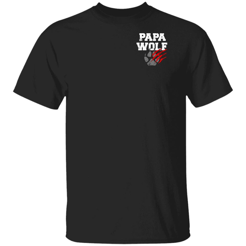 Viking, Norse, Gym t-shirt & apparel, Papa Wolf, Circus, Double sidedApparel[Heathen By Nature authentic Viking products]Premium Men T-ShirtBlackS
