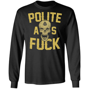 Viking, Norse, Gym t-shirt & apparel, polite, frontApparel[Heathen By Nature authentic Viking products]Long-Sleeve Ultra Cotton T-ShirtBlackS