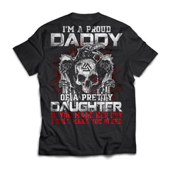 Viking, Norse, Gym t-shirt & apparel, Proud daddy, BackApparel[Heathen By Nature authentic Viking products]Next Level Premium Short Sleeve T-ShirtBlackX-Small
