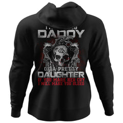 Viking, Norse, Gym t-shirt & apparel, Proud daddy, BackApparel[Heathen By Nature authentic Viking products]Unisex Pullover HoodieBlackS