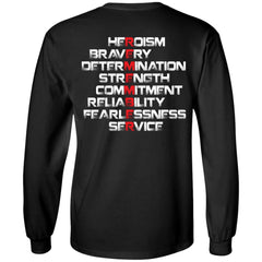 Viking, Norse, Gym t-shirt & apparel, Remember, BackApparel[Heathen By Nature authentic Viking products]Long-Sleeve Ultra Cotton T-ShirtBlackS