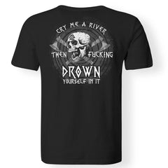 Viking, Norse, Gym t-shirt & apparel, river, drown, backApparel[Heathen By Nature authentic Viking products]Premium Men T-ShirtBlackS