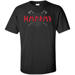 Viking, Norse, Gym t-shirt & apparel, Runes, FrontApparel[Heathen By Nature authentic Viking products]Tall Ultra Cotton T-ShirtBlackXLT