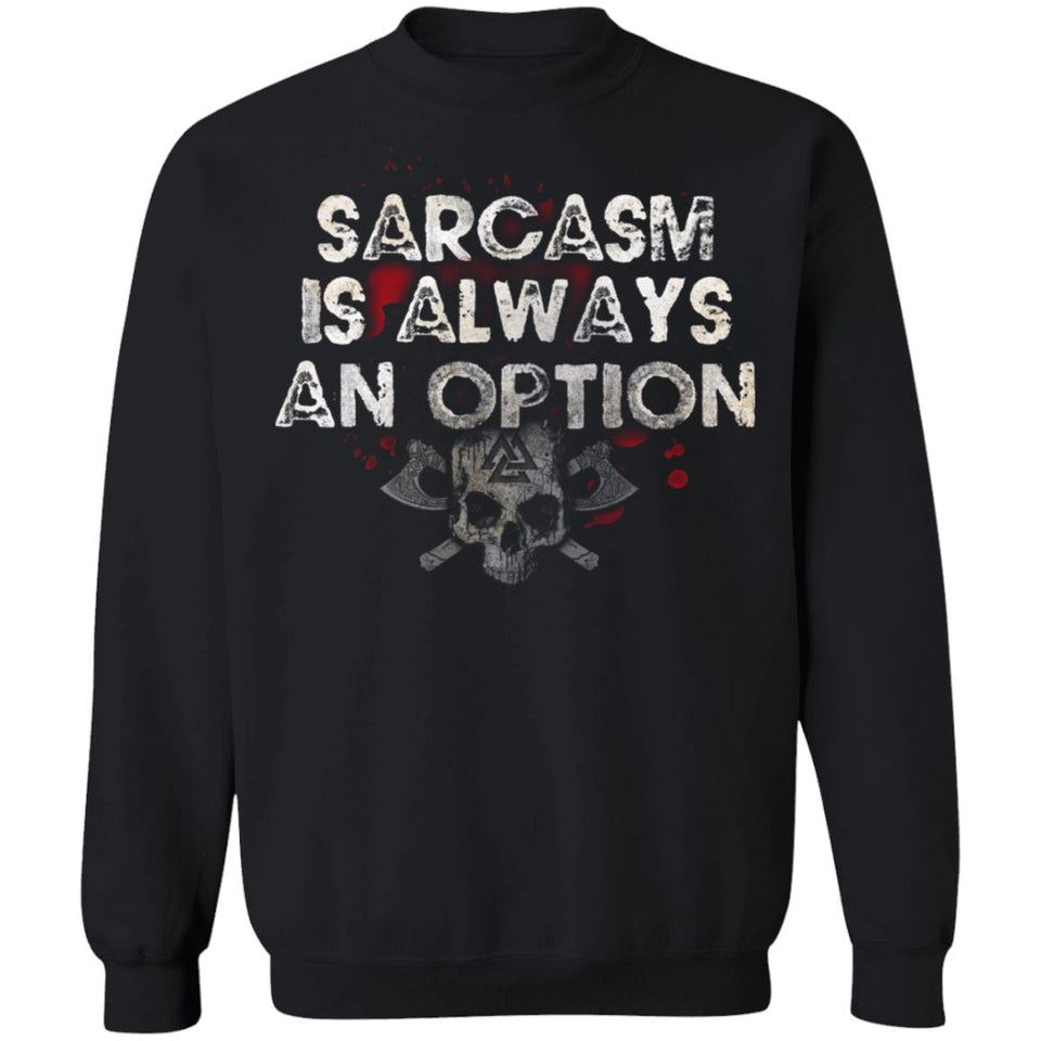 Viking, Norse, Gym t-shirt & apparel, Sarcasm, FrontApparel[Heathen By Nature authentic Viking products]Unisex Crewneck Pullover Sweatshirt 8 oz.BlackS