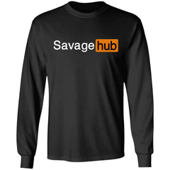 Viking, Norse, Gym t-shirt & apparel, Savage hub, frontApparel[Heathen By Nature authentic Viking products]Long-Sleeve Ultra Cotton T-ShirtBlackS
