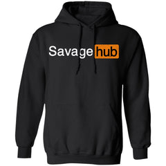 Viking, Norse, Gym t-shirt & apparel, Savage hub, frontApparel[Heathen By Nature authentic Viking products]Unisex Pullover HoodieBlackS