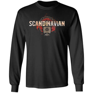 Viking, Norse, Gym t-shirt & apparel, Scandinavian, FrontApparel[Heathen By Nature authentic Viking products]Long-Sleeve Ultra Cotton T-ShirtBlackS