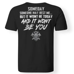 Viking, Norse, Gym t-shirt & apparel, someday, best me, backApparel[Heathen By Nature authentic Viking products]Premium Men T-ShirtBlackS