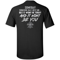 Viking, Norse, Gym t-shirt & apparel, someday, best me, backApparel[Heathen By Nature authentic Viking products]Tall Ultra Cotton T-ShirtBlackXLT