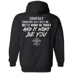 Viking, Norse, Gym t-shirt & apparel, someday, best me, backApparel[Heathen By Nature authentic Viking products]Unisex Pullover HoodieBlackS
