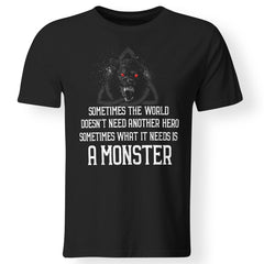 Viking, Norse, Gym t-shirt & apparel, Sometimes the world doesn't need another hero, frontApparel[Heathen By Nature authentic Viking products]Premium Men T-ShirtBlackS