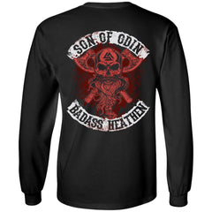 Viking, Norse, Gym t-shirt & apparel, Son of Odin, BackApparel[Heathen By Nature authentic Viking products]Long-Sleeve Ultra Cotton T-ShirtBlackS