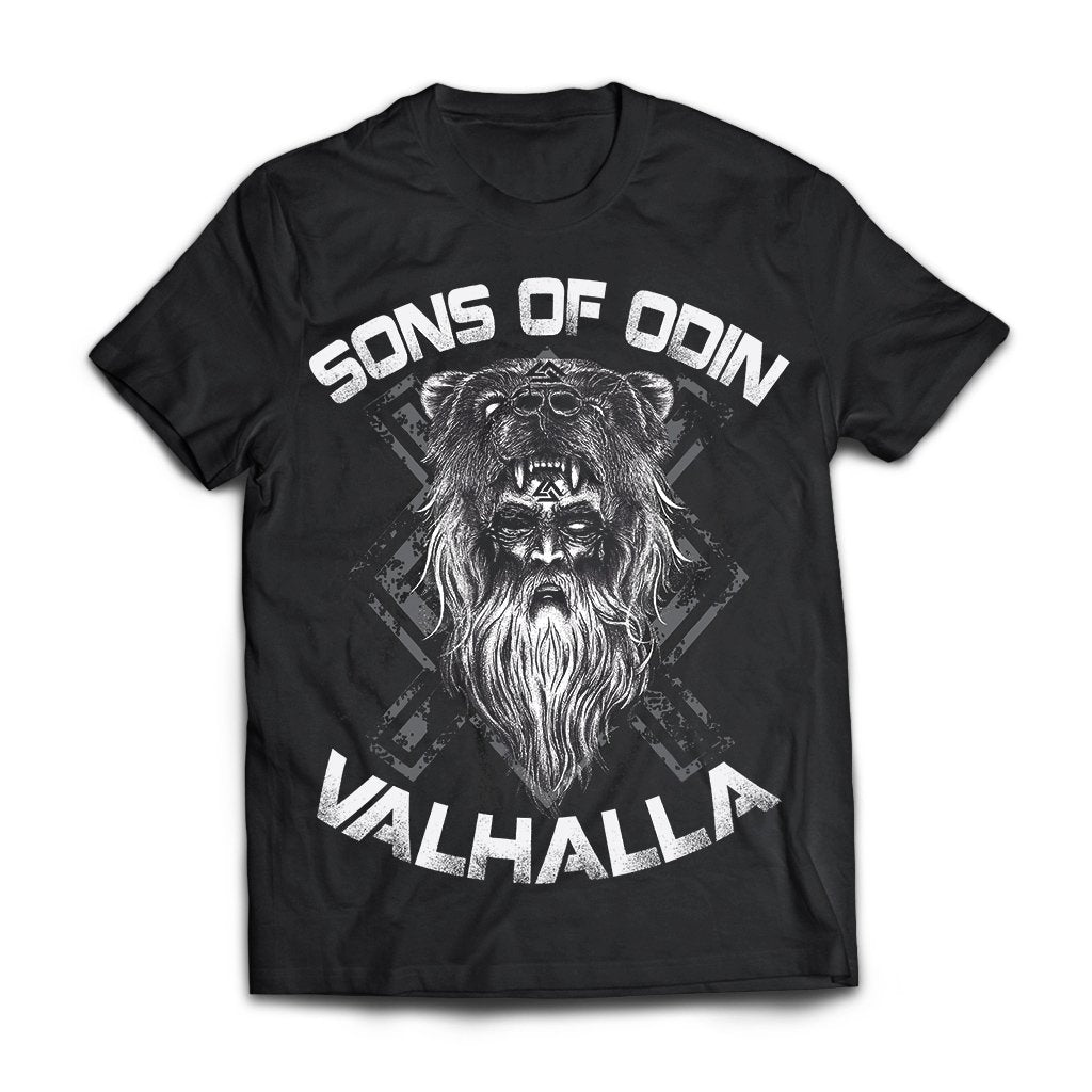Viking, Norse, Gym t-shirt & apparel, Sons of Odin, FrontApparel[Heathen By Nature authentic Viking products]Next Level Premium Short Sleeve T-ShirtBlackX-Small