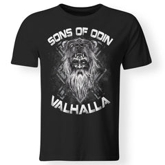 Viking, Norse, Gym t-shirt & apparel, Sons of Odin, FrontApparel[Heathen By Nature authentic Viking products]Premium Men T-ShirtBlackS