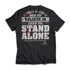 Viking, Norse, Gym t-shirt & apparel, Stand up for what you believe, BackApparel[Heathen By Nature authentic Viking products]Next Level Premium Short Sleeve T-ShirtBlackX-Small