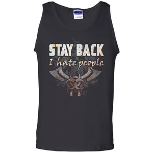Viking, Norse, Gym t-shirt & apparel, Stay Back, FrontApparel[Heathen By Nature authentic Viking products]Cotton Tank TopBlackS