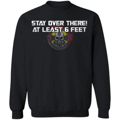 Viking, Norse, Gym t-shirt & apparel, Stay over there, FrontApparel[Heathen By Nature authentic Viking products]Unisex Crewneck Pullover SweatshirtBlackS