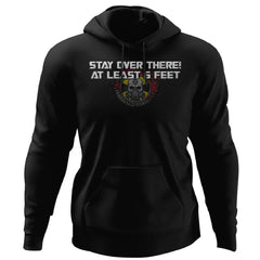 Viking, Norse, Gym t-shirt & apparel, Stay over there, FrontApparel[Heathen By Nature authentic Viking products]Unisex Pullover HoodieBlackS