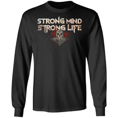 Viking, Norse, Gym t-shirt & apparel, Strong, FrontApparel[Heathen By Nature authentic Viking products]Long-Sleeve Ultra Cotton T-ShirtBlackS