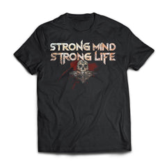 Viking, Norse, Gym t-shirt & apparel, Strong, FrontApparel[Heathen By Nature authentic Viking products]Next Level Premium Short Sleeve T-ShirtBlackX-Small