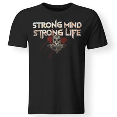 Viking, Norse, Gym t-shirt & apparel, Strong, FrontApparel[Heathen By Nature authentic Viking products]Premium Men T-ShirtBlackS