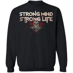 Viking, Norse, Gym t-shirt & apparel, Strong, FrontApparel[Heathen By Nature authentic Viking products]Unisex Crewneck Pullover SweatshirtBlackS