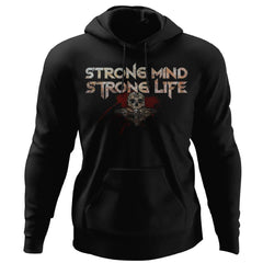 Viking, Norse, Gym t-shirt & apparel, Strong, FrontApparel[Heathen By Nature authentic Viking products]Unisex Pullover HoodieBlackS
