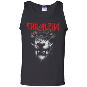 Viking, Norse, Gym t-shirt & apparel, The alpha, frontApparel[Heathen By Nature authentic Viking products]Cotton Tank TopBlackS