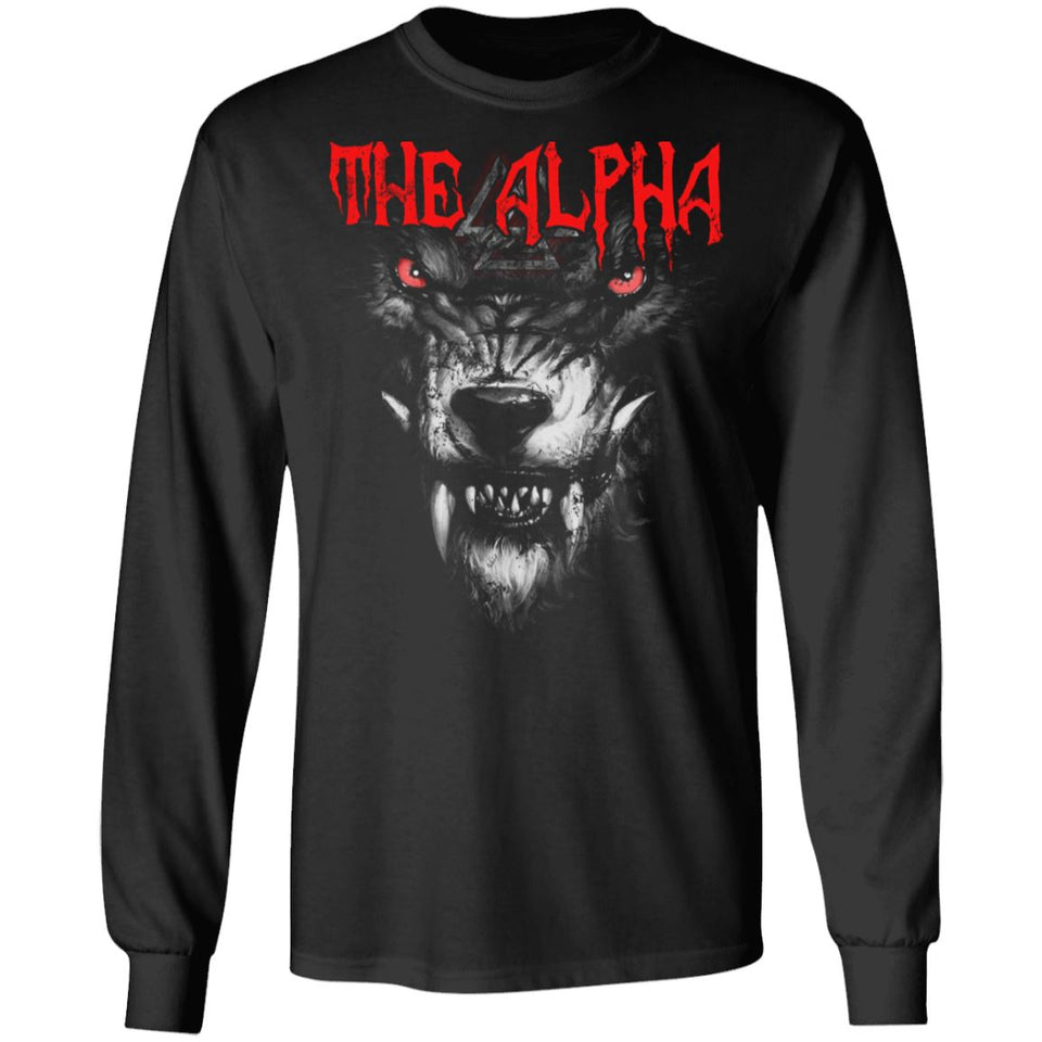 Viking, Norse, Gym t-shirt & apparel, The alpha, frontApparel[Heathen By Nature authentic Viking products]Long-Sleeve Ultra Cotton T-ShirtBlackS