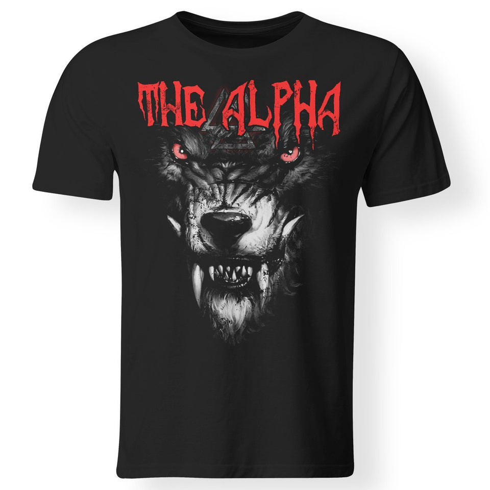 Viking, Norse, Gym t-shirt & apparel, The alpha, frontApparel[Heathen By Nature authentic Viking products]Premium Men T-ShirtBlackS