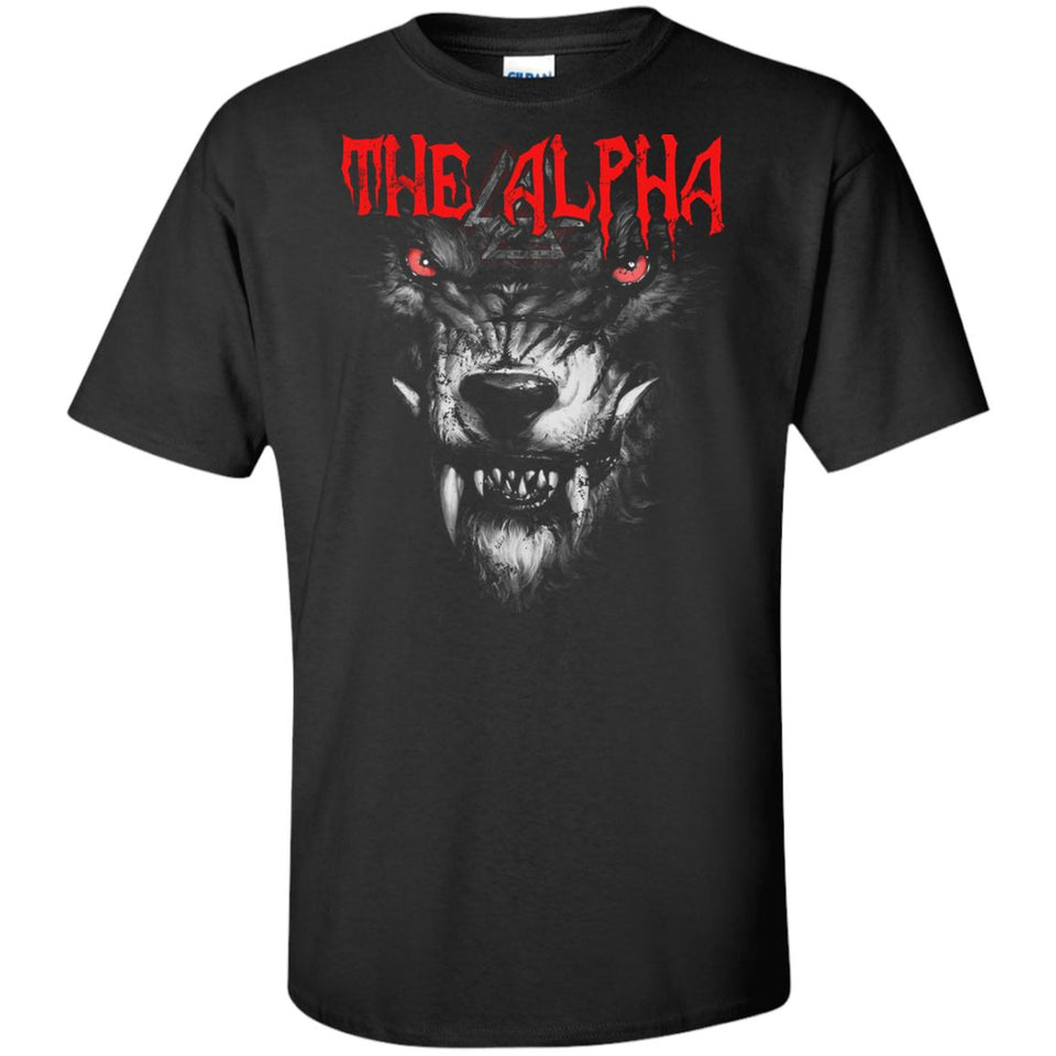 Viking, Norse, Gym t-shirt & apparel, The alpha, frontApparel[Heathen By Nature authentic Viking products]Tall Ultra Cotton T-ShirtBlackXLT
