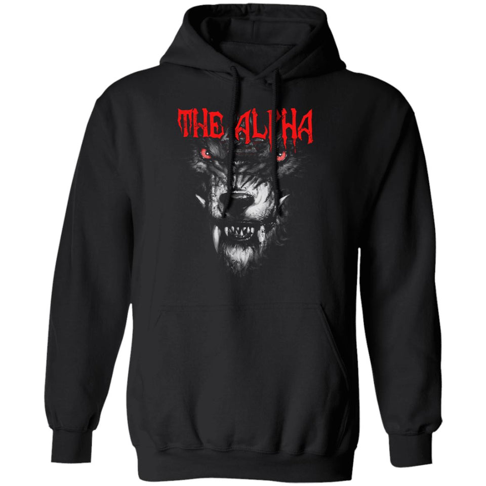 Viking, Norse, Gym t-shirt & apparel, The alpha, frontApparel[Heathen By Nature authentic Viking products]Unisex Pullover Hoodie 8 oz.BlackS