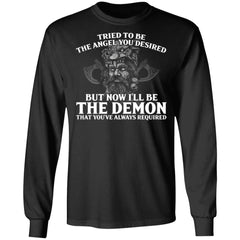 Viking, Norse, Gym t-shirt & apparel, The Demon, FrontApparel[Heathen By Nature authentic Viking products]Long-Sleeve Ultra Cotton T-ShirtBlackS