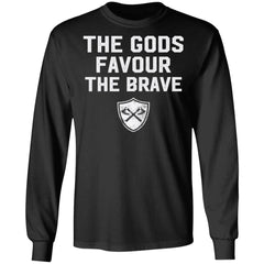 Viking, Norse, Gym t-shirt & apparel, The Gods favour the brave, FrontApparel[Heathen By Nature authentic Viking products]Long-Sleeve Ultra Cotton T-ShirtBlackS