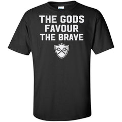 Viking, Norse, Gym t-shirt & apparel, The Gods favour the brave, FrontApparel[Heathen By Nature authentic Viking products]Tall Ultra Cotton T-ShirtBlackXLT