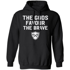 Viking, Norse, Gym t-shirt & apparel, The Gods favour the brave, FrontApparel[Heathen By Nature authentic Viking products]Unisex Pullover HoodieBlackS