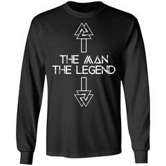Viking, Norse, Gym t-shirt & apparel, The Legend, FrontApparel[Heathen By Nature authentic Viking products]Long-Sleeve Ultra Cotton T-ShirtBlackS