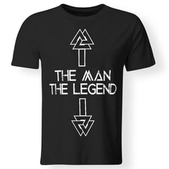 Viking, Norse, Gym t-shirt & apparel, The Legend, FrontApparel[Heathen By Nature authentic Viking products]Premium Men T-ShirtBlackS
