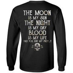 Viking, Norse, Gym t-shirt & apparel, The Moon, BackApparel[Heathen By Nature authentic Viking products]Long-Sleeve Ultra Cotton T-ShirtBlackS