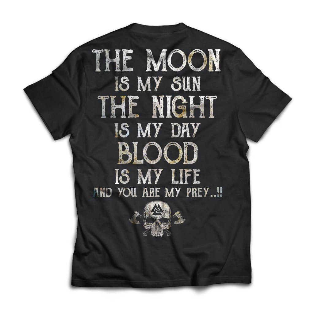 Viking, Norse, Gym t-shirt & apparel, The Moon, BackApparel[Heathen By Nature authentic Viking products]Next Level Premium Short Sleeve T-ShirtBlackX-Small