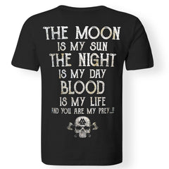 Viking, Norse, Gym t-shirt & apparel, The Moon, BackApparel[Heathen By Nature authentic Viking products]Premium Men T-ShirtBlackS